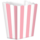 1/2 lb. Pink Stripe Popcorn Style Treat Box