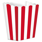 1/2 lb. Apple Red Stripe Popcorn Style Treat Box