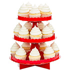 Apple Red Cupcake Stand