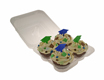 Plastic Shell -Holds 4 Standard Size Cupcakes