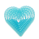 Fluted Heart Plastic Cutter Set