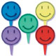 Transparent Smiley Face Picks