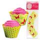 Cupcake Wrap- Spring Butterflies