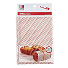 Red and Green Striped Parchment Paper Sheets