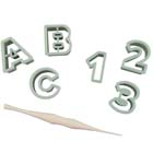Mini Alphabet and Number Cookie Cutter Set