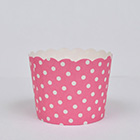 Pink Polka Dot Bake In Cups