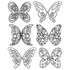 Gelatin Veining Sheet- Fantasy Butterfly