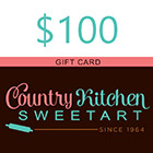 $100 Country Kitchen SweetArt Gift Card