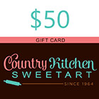 $50 Country Kitchen SweetArt Gift Card