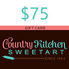 $75 Country Kitchen SweetArt Gift Card