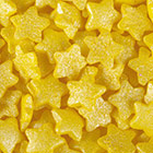 Yellow Stars Shimmer Shapes