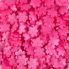 Jumbo Pink Flowers Shimmer Shapes