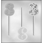 """Number """"3"""" Sucker Chocolate Candy Mold"""