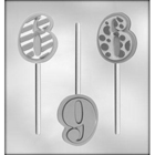 "Number ""6"" Sucker Chocolate Candy Mold"