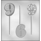 "Number ""9"" Sucker Chocolate Candy Mold"
