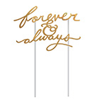 Forever & Always Cake Topper Pick