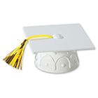 White Graduation Cap Topper
