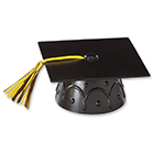 Black Graduation Cap Topper