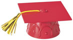 Graduation Cap w/Tassel - Red