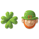Leprechaun and Shamrock Rings