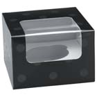 Black Dot 1 Ct. Cupcake Box with Window