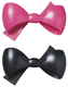 Pink and Black Bow Lay-ons