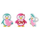 Valentine Penguin Rings
