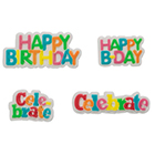 Sugarsoft® Celebratory Sayings Decorations