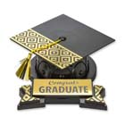 Geometric Graduation Hat and Plaque Set