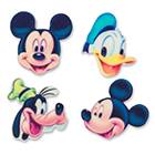 Sugarsoft® Molded Sugar Mickey Characters