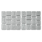 Letter Pressed Cookie Cutter Set