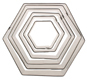 Hexagon Cookie Cutter Set