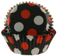 Black w/Red & White Dots Standard Baking Cups