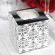 Black and White Filigree Cupcake Box