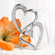 Sparkling Heart Wedding Cake Topper Pick