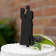 Bride and Groom Silhouette Wedding Cake Topper Pick