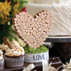 Rustic Heart Wedding Centerpiece