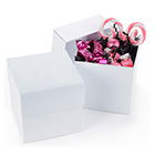 White Shimmer Cupcake Favor Box