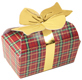 1/2 lb. Plaid Bow Candy Box