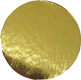 "Round Cake Cardboards - 3 3/16"" Mini Gold"