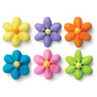 Royal Icing Flowers - Medium Bright Star Assortment