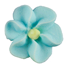 Royal Icing Flowers - Tiny Blue