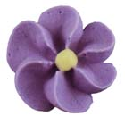 Royal Icing Flowers - Tiny Violet