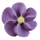Royal Icing Flowers - Small Violet