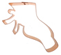 Copper Cookie Cutter - Ballet Slipper