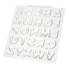 Domed Uppercase Alphabet Silicone Mold