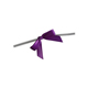 Purple Twist Tie Bows