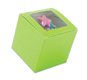 Lime Green 1 Ct. Cupcake Box with Window