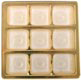1/2 lb. Box Square Gold Insert, #5 cup, 9 cavities