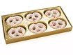 Pretzel Gold Insert Candy Box with Clear Lid